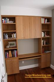 Built In Bookshelves With Desk by Yeager Woodworking Cabinetry And Home Improvements