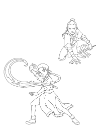 airbender coloring pages coloring