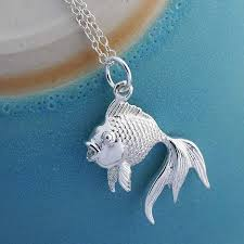 silver fish necklace images Sterling silver fish necklace by martha jackson sterling silver jpg