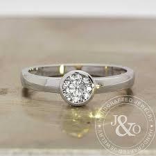bezel set engagement ring bezel set engagement ring 0 60 carat low profile engagement