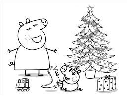 printable peppa pig christmas coloring pages 2546 peppa pig