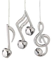 bell musical note ornaments set of 3