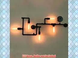industrial pipe light fixture diy pipe chandelier industrial pipe lighting light water l