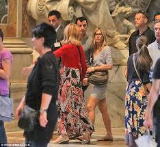 jennifer aniston flaunts vatican city dress code by revealing legs