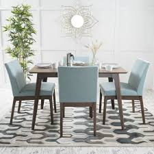 Noble House Dining Chairs Noble House Caruso Natural Walnut Oak Wood Mint 5 Piece Dining Set