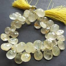 drop bead golden rutile quartz bead gemstone bead briolette drop