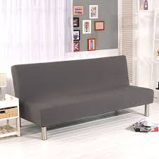 Folding Sofa Bed Solid Color All Inclusive Folding Sofa Bed Cover No Armrest Sofa