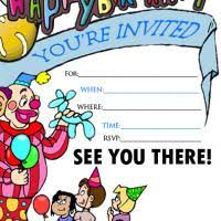 extraordinary printable birthday invitation cards for kids 67 in