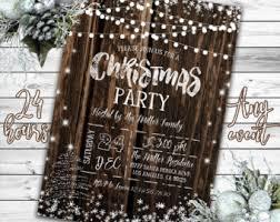 rustic christmas christmas party invitation rustic christmas invitation