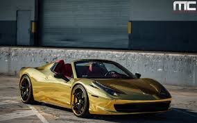 gold and black ferrari dub magazine gold ferrari 458 italia spider