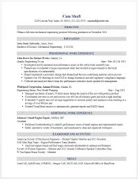 Sample Of Resume For Mechanical Engineer by Example Resumes U2022 Engineering Career Services U2022 Iowa State University