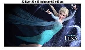 frozen elsa disney kids giant wall poster art print c008 ebay