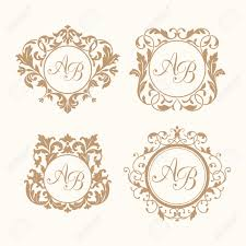 Monogramed Letters Monogram Initials Stock Photos Royalty Free Monogram Initials