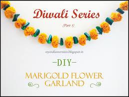 flower garland my indian version diwali series part 1 diy marigold flower
