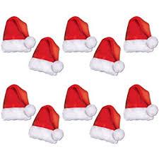 santa hats beistle 22269 10 mini santa hat paper cutouts 5