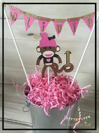 smash cake topper sock monkey party supplies by alittlebitofaud