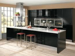 cuisine noir laqué pas cher modèle cuisine noir laqué pas cher