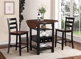 3 Piece Kitchen Bistro Set by Kimball 3 Piece Counter Height Dining Set In Black And Cherry Two