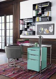 Filing Cabinet For Home - modern home office with turquoise filing cabinet good filing