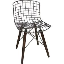 chaise design chaise design fil de fer et pieds en bois noir wadiga la redoute