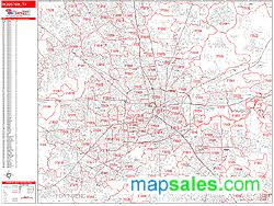 houston map with zip codes houston zip code wall map line style by marketmaps
