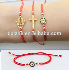cross cord bracelet images 925 sterling silver cute hamsa hand cross evil eye charm red cord jpg