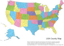 usa state map with counties at maps us printable county maps