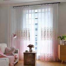 Ombre Sheer Curtains Beautiful Ombre Pink Floral Embroidery Sheer Curtains For Patio Door