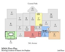 met museum floor plan displaying islamic art at the metropolitan a retrospective look