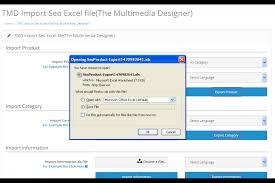 opencart tmd multilanguage seo url combo of import export 2 x