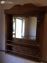bathroom mirror u0026 shelf u2022 1001 pallets