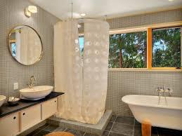 bathroom wonderful round shower curtain rod and polka dots shower