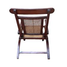 Folding Wicker Chairs Colonial Burmese Teak And Rattan Folding Campaign Chair