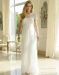 Wedding Dresses For Pregnant Women Discount Cheap Modest Long Lace Chiffon Maternity Wedding Dresses