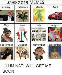 Illuminati Memes - leaked 2019 memes march january february april da may june july