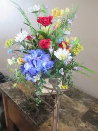 silk flowers for the home silk flower arrangement tricycle