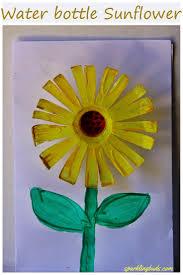 water bottle sunflower craft sparklingbuds recycle crafts peeinn com