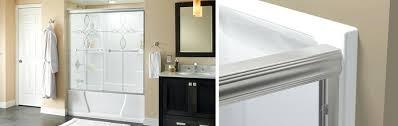 Replace Shower Door Install Shower Door Traditional Style Sliding Bathtub Door