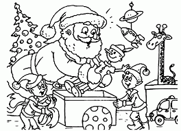 santa claus coloring pages and elves coloringstar