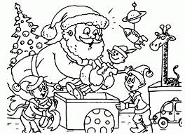 santa claus coloring pages elves coloringstar
