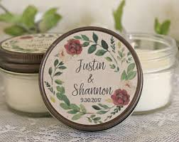 personalized candle favors candle favors etsy