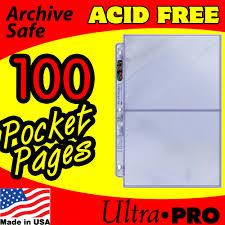 pocket pages ultra pro 2 pocket platinum pages 100 202d 100 12 99 zen