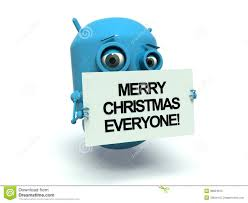 robot merry everyone stock illustration image 38824615