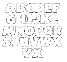 bold printable alphabet letters letters and numbers templates free best photos of letter and number