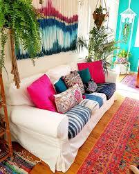 boho living room decor love the mismatch sofa cushions boho