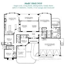 large single house plans plans four bedroom one house plans