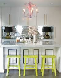 Mirrored Mosaic Tile Backsplash by Mirror Kitchen Backsplash Glam Kitchen Chic Kitchen Silver