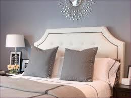 bedroom marvelous tufted bed frame and headboard black plush