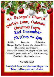 christmas fayre on 2 december at 10 30