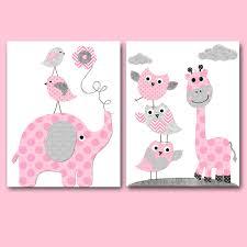 Owl Bedroom Decor Blue Grey Elephant Canvas Print Baby Boy Nursery Quotes Baby